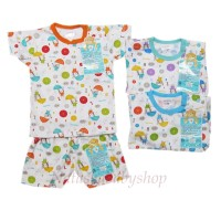 Libby 3 Setel Oblong Pendek dan Celana Pendek motif Umbrella sz M