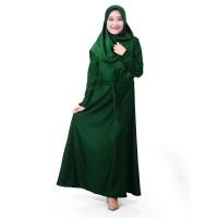 Muslimore Baju Muslim Gamis Murah Hijau Botol Polos Balotelli XNB-10