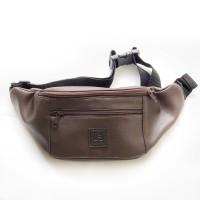 Tas Selempang Kulit Zelo Brown / Sling Bag / Waist Bag