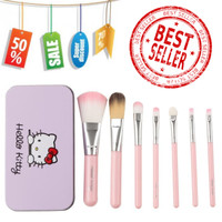 Set hello Kitty Makeup Brush 7pcs Paket Set Kuas Make Up brush set