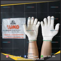 Sarung Tangan Kerja Kain Katun / Rajut Benang 3 Sumo. Alat Safety