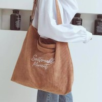 Korean Corduroy Big Size Tote Bag