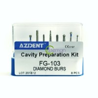 Dental Cavity Preparation Bur Set FG-103 8pcs Bur Gigi Prep Kavitas