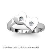 Double Love Ring - Cincin Crystals Swarovski® by Her Jewellery