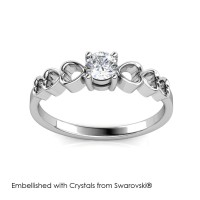 Sweet Love Ring - CIncin Crystals Swarovski® by Her Jewellery