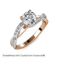 Eleanor Ring - Cincin Crystal Swarovski® by Her Jewellery