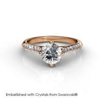 Luxx Ring - Cincin Crystals Swarovski® by Her Jewellery