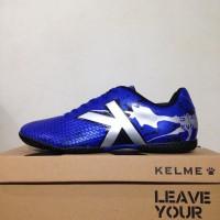 Harga kualitas super sepatu futsal kelme star evo royal blue silver | antitipu.com