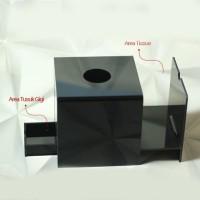 Tempat tissue unik / tempat tissue 2 in 1 / tempat tissue akrilik