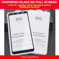 Tempered Glass 5D Full Cover Oppo A71 A83 F7 Full Glue Antigores Kaca