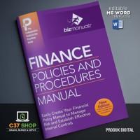 TEMPLATE SOP Finance Policies Procedures Manual | BizManualz