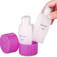 Botol Kosong 3 in 1 Sabun Shampo Obat Cairan Cream Mini Travel 45ml
