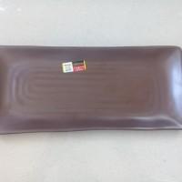 """Piring Model Kotak Persegi 12"""" Coklat Melamine -Golden Dragon P6512A"""