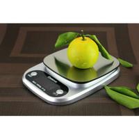 Timbangan dapur kue sayur buah digital kitchen scale stainless 10kg 1g