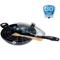 Airlux Magic Pan Aluminium Panci Teflon Besar 32cm MP32 - Hitam