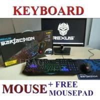 Keyboard Mouse Gaming Rexus Warfaction Vr1 Backlight Free Mo Terlaris