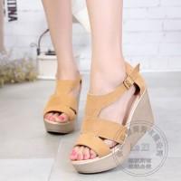 SX - Sandal Wedges Ls05 Tan