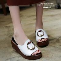 SX - Sandal Wedges Ss24 Putih - Putih