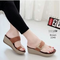 SX - Sandal Wedges Hr01 Tan -