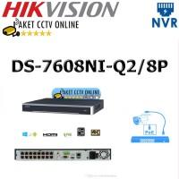 NVR DS-7608NI-Q2/8P Hikvision 8 Ch Seri POE DS-7608NI-Q2