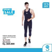 Tiento Tank top Singlet Sport Pria Celana Legging 3/4 Pants Navy 1 Set