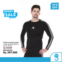 Tiento Baselayer Rashguard Manset Olahraga Pria Long Sleeve Retro Race