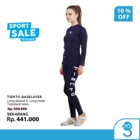 Tiento Baju Manset Baselayer Long dan Celana Legging Typotype 1 Stel