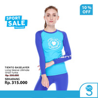 Tiento Baselayer Manset Olahraga Wanita Long Sleeve Orbit Turkis Women