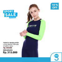 Tiento Baselayer Manset Olahraga Wanita Long Sleeve Graphic Navy Women