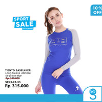 Tiento Baselayer Manset Olahraga Wanita Long Sleeve Stripe Box Women