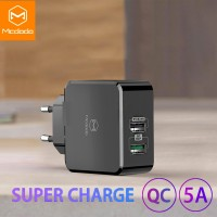 MCDODO Charger Super Charge 5A QC 3.0 SCP FCP ACF ACF Fast Charging