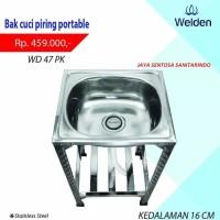 Bak Cuci Piring Kaki Kitchen Sink Portable Meja Welden 47PK