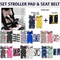 SET Stroller Pad & Seat Belt Pad Stroller Akachan kereta dorong seatpa