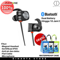 Headset Bluetooth Plextone BX338 Earphone Headphone Handsfree Wireless