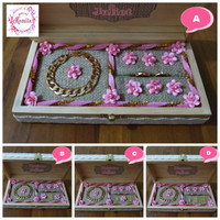 ring bearer wedding box cincin perhiasan bahan kayu wood rustic