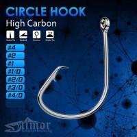 Circle Hook Carbon Mata Kail Pancing Bulat