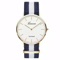 jam tangan wanita DW/jam warna navy/jam bahan rajut/jam murah