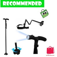 Trust Cane Lighted Crutch Five Sections / Tongkat