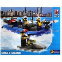 Emco Coast Guard 8818 Mainan Brix Mainan Blok Mainan Puzzle AJAE