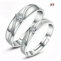 Cincin Single Perak 925 Pria - Wanita Pasangan Tunangan Nikah S925
