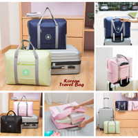 Korean Travel Bag HAPPY FLIGHT (bisa diselip ke gagang trolley bag)