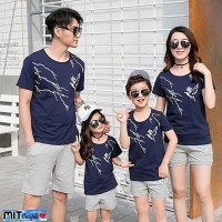 Hoodie Baju Family Couple Kaos Pasangan Keluarga 2 Anak Bird 11156