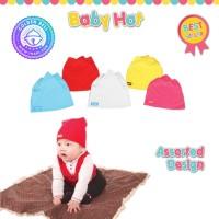 Topi Bayi Warna Polos / Baby Hat Color