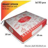 BOX PIZZA Dus Pizza Kotak PIZZA uk 15x15x3 cm harga satuan