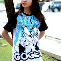 KAOS RAGLAN GOGETA DRAGONBALL SUPER ANIME GOKU