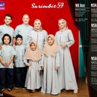 nibras sarimbit 59 dusty blue - baju koko dan gamis - fashion muslim