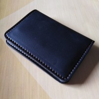 Dompet kartu card holder kulit imitasi 6 slot [Hitam]