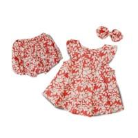 Mosfit Festive Mulan Red Baju Setelan Anak Perempuan