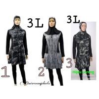 Baju Renang Wanita Dewasa Muslim Polos Size XXL