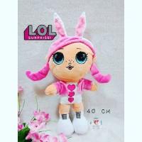 boneka LOL baju love pink